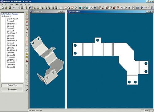 Проектирование деталей из листового металла и получение геометрии развертки.