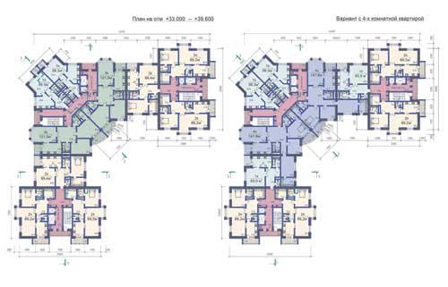Многоэтажный жилой дом чертежи
