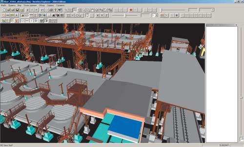 Модель железобетонных конструкций для склада неорганических продуктов.