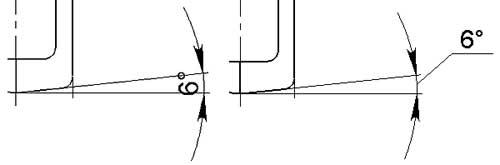 Рис. 3. Размер на выносной полке