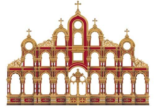 иконостаса храма Рождества