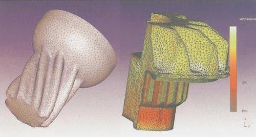 ...процессов холодного прессования зубчатых колес (слева) либо получения их методами горячей объемной штамповки.