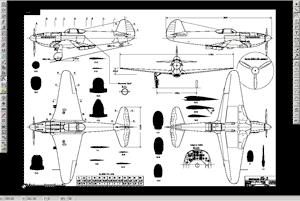 скачать чертеж авиамодели як-3