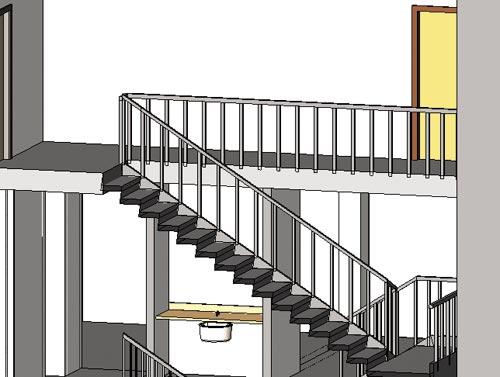 Рис. 2. Наклонная лестница