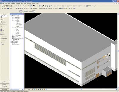 Рис. 2. Архитектура в Autodesk Revit Architecture 2008