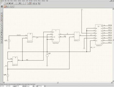 """Рис. 1. Электрическая схема управления вычислительного модуля  """"Системный контроллер """" в среде P-CAD 2004 Schematic."""