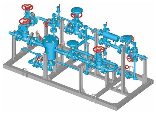 Обвязка газовой арматуры