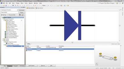 В состав. включена программа моделирования, которая позволяет анализировать аналоговые, цифровые и смешанные схемы.