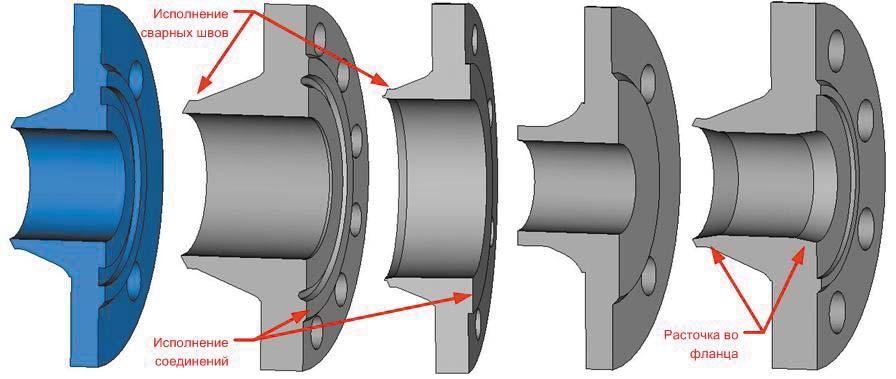 Рис. 3. 3D-модель фланца