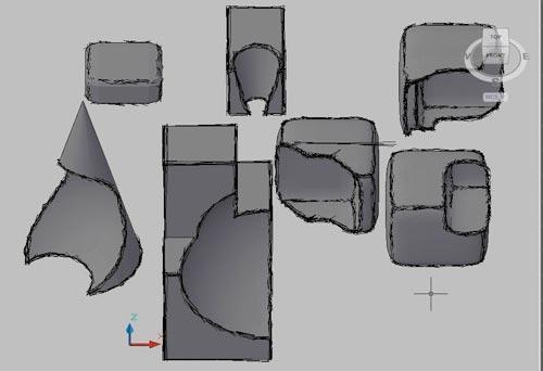 Рис. 6. Результаты комбинирования базовых 3D-тел