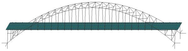 Расчетная схема моста