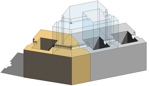 Рис. 5. Схема сопряжения блоков типа БНУВ.