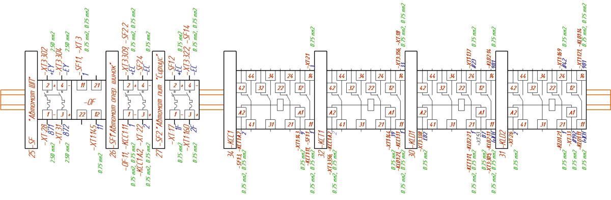 Для создания монтажной схемы достаточно добавить в базу данных E3.series монтажные символы изделий.