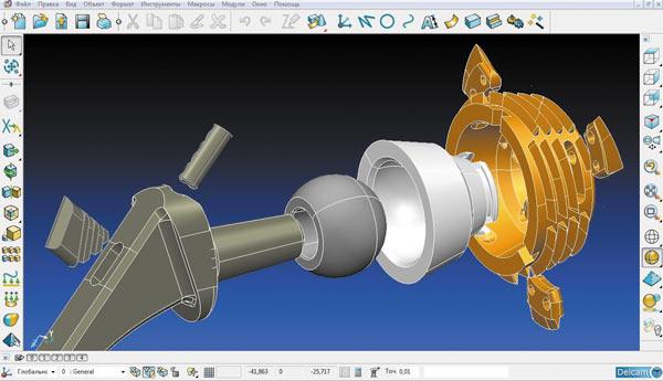 Моделирование деталей тотального тазобедренного сустава в среде PowerSHAPE.