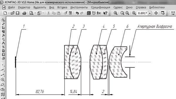 Эскиз оптической схемы