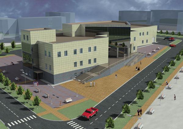 Пример 3D-модели здания