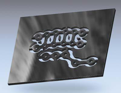 Рис. 12. 3D-вид изделия в ArtCAM