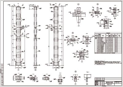 Рис. 4. Пример выполнения чертежа марки КМД