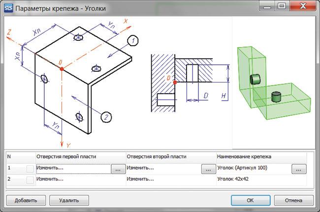 Схема крепежа типа «Уголок»