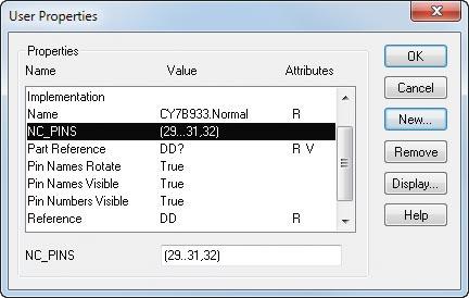 Рис. 4. Описание свойства NC_PINS