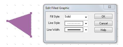 Рис. 6. Редактирование свойств графических объектов