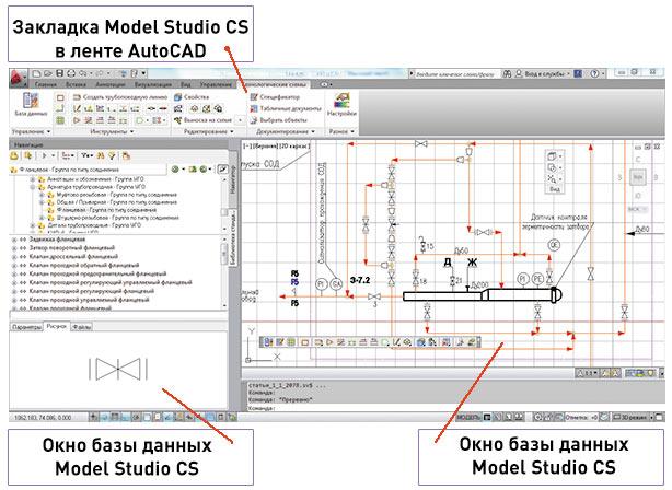 Рис. 1. Общий вид пользовательского интерфейса Model Studio CS Технологические схемы