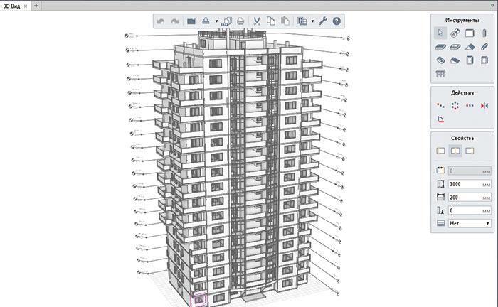 Рис. 2. Представление модели в трехмерном пространстве