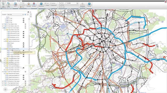 Схема развития транспорта