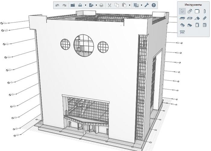 Рис. 12. Модель торгового центра в Renga