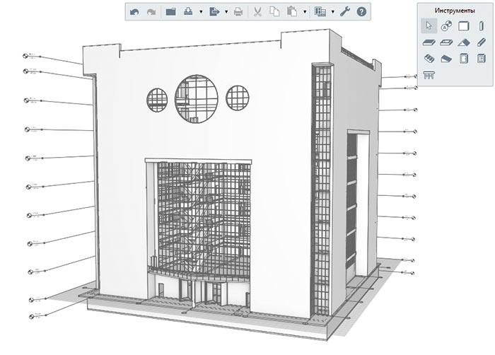 Рис. 18. Модель торгового центра в Renga с учетом изменений