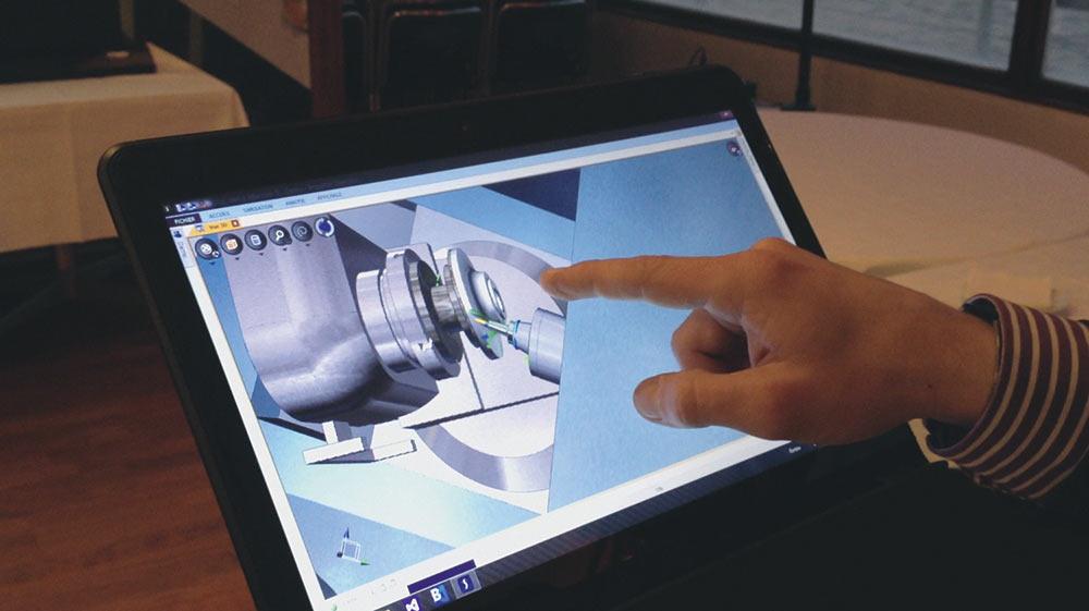 Симуляция обработки на планшетном компьютере